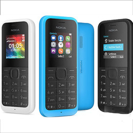 Wholesale Wholesale Old Mobile - Refurbished Original Nokia 105 2015 GSM Mobile phone 1.4Inch Screen Single SIM No Camera Not Support TF Card Bar Old Keyboard