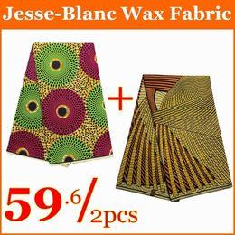Wholesale Super Wax Block Prints - ankara fabric Colorful african fabric ankara cotton wax block prints super wax hollandais cotton fabric for nigerial cloth 6yds