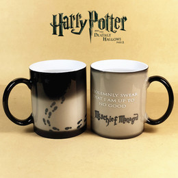 Wholesale Temperature Mug Color Changing Cup - Personality Harry Potter Magic Marauder's Map Temperature change color mug thermochromic Mischief Managed ceramics coffee cup 350ml