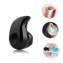 Wholesale Wireless Mini Mic - Universal S530 Mini Wireless Bluetooth 4.0 Earphone Stereo Sport Headphones Stealth Headset Earbud With Mic and Retail box