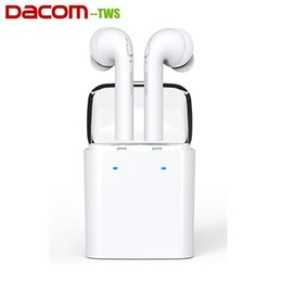 Wholesale Hd Twin - Dacom Wireless Twins Bluetooth Earphones TWS HD Stereo Earbuds with Charging box for iPhone 7 Plus Samsung Huawei Xiaomi Smart Phone