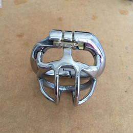 "Wholesale Stainless Steel Chastity Belt Shortest - Newest Lock Design 25mm Cage Stainless Steel Super Small Male Chastity Devices 1"" Short 40mm Cock Cage For Men BDSM Sex Toys"