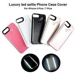 Wholesale Led Lights Bulk - For iPhone 6 6s 7 Plus Luminous LED Cell Phone Case Photograph LED Fill Light Selfile Bulk minion phone cases cellphone case i6s