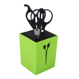 Wholesale Roller Stand - box New 3Colors Professional Hairdressing Scissors Case Haircut Combs Clamps Stand Socket Hair Clips Storage Box Holder
