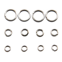 Wholesale Sized Rings - All Size Stainless Steel Jump Ring Jewelry Finding Brass Open Jump Rings Components 100g bag JR06