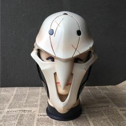 videospiel requisiten Rabatt Neue 2017 Hochwertige Harz Maske Party Cosplay Kostüm Prop Für Video Spiel Reaper Cosplay Halloween Maske Prop Kostenloser Versand