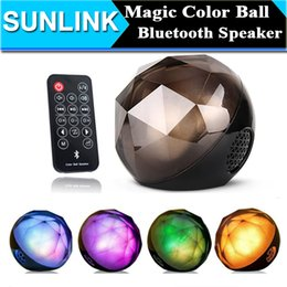Wholesale Xmas Seals - Brand New Color Ball Bluetooth Speaker LED Light Magic Crystal Speakers With Remote Control Wireless Audio Player Xmas Gift