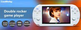 Nes jogos mp5 on-line-2017 moda 4 GB 4.3 Polegada PMP Handheld Game Player dupla balancim MP4 MP5 Player de Vídeo FM Câmera Portátil Game Console