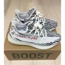 Wholesale Sports Snow Boots - ORIGINALS BOOST 350 V2 Zebra CP9654 BLACK RED BLANC CORE NOIR ROUGE BLAESS NOIESS ROUGE Running Shoes BLACK RED Sport Sneakers 350V2