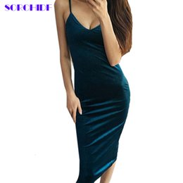 Wholesale Wholesale Quality Bandage Dresses - Wholesale- SORCHID Sexy Velvet Dress High Quality Dress V-neck Dresses Bodycon Brand Designer Clothes Brief Style Vestido Bandage Dress