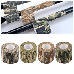 Wholesale Roll Wraps - New Hot 1 Roll Men Army Adhesive Camouflage Tape for Outdoor Hunting Stealth Wrap free shipping