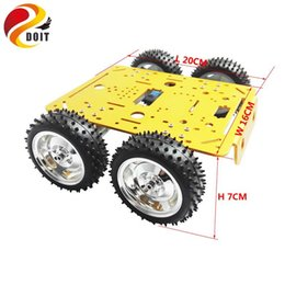 Wholesale Toy Car Motor Rc - Wholesale- Original DOIT C300 4WD Wheel Vehicle Robot 4 Motor and Driving Wheel Smart Car DIY RC Toy Remote Control Mobile Platform