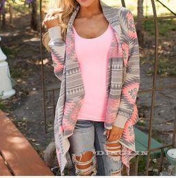 Wholesale open stitch sweater - Wholesale- Hot Fashion Women Autumn Winter Cardigan Open Stitch Sweater Slim Long Sleeve Geometric Women's Casual Cardigans Sweaters CL33