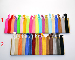 Wholesale Elastic Ribbon Hair Tie - 500Pcs mixed candy colors Knotted Ribbon Hair Tie Ponytail Holders Stretchy Elastic Headbands Kids Women Hair Accessory
