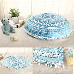Wholesale Indian Cushion Covers - Mandala Indian Ombre Pillow Case Hippie Boho Throw Cushion Cover Floor Pillow Cover Bohemian Pillowcase Vintage Sofa Car Decoration IB058