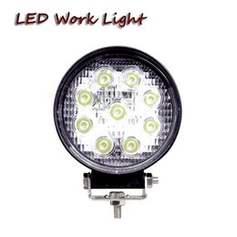 Wholesale Agriculture Led Lighting - Free shipping 4x4 27W LED work light ATV powersports high power agriculture vehicles truck tractor harvester led fog light driving lamp