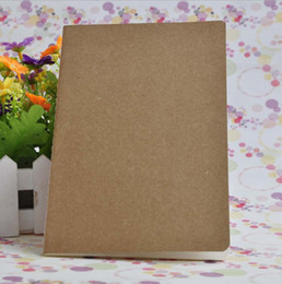Wholesale kraft paper note book - DHL Shipping Kraft notebook A5 21*14cm With Blank pages vintage notebook booklet binder notepads memo pads note pads memo book diary jounal