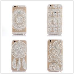 Transparent Blanc Fleur Floral Paisley Mandala Dur PC Case Couverture Pour iPhone6 6S Plus 7 7Plus / Samsung Galaxy Core Premier G360P / Grand Prime ? partir de fabricateur