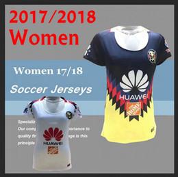 Wholesale Short Black Woman Club - Women New Arrived Club America 2017 Soccer Jerseys Home Red Black away TOP QUALITY 17 18 R.SAMBUEZA P.AGUILAR O.Peralta girl Football Shirts