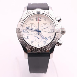 Wholesale Dhgate White Dresses - DHgate selected top store luxury brand watches men avenger seawolf chrono white dial rubber band watch quartz watch mens dress watches