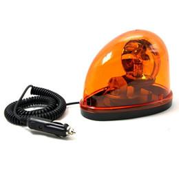 Wholesale Amber Flashing Beacon - Amber 12V Halogen Bulb Emergency Strobe Beacon Warning Flash Light Magnet Mount Free Shipping