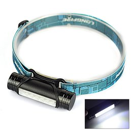 Wholesale Led Rechargeable Emergency Torch Light - MINI Rechargeable LED Headlight 3 Modes Headlamp Flashlight Head Lamp Torch Light+USB Cable Emergency Phone Charger Outdoor Camping