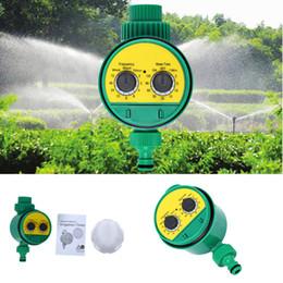 Controlador de rociadores de agua online-Temporizador de agua Automático Inteligente Electrónico LCD Temporizador de agua Diseño de juntas de goma Válvula solenoide Riego Regador Regulador + NB