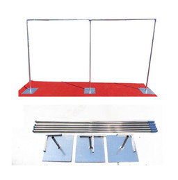 Wholesale Cakes Stands - 3m x 6m Good Quality Wedding Stainless Steel Pipe Wedding Backdrop Stand with expandable Rods Backdrop Frame Free Shipping
