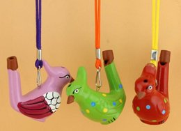 Wholesale Bird Whistles - Ceramic water bird whistle home decoration children gifts DHL & FEDEX Free Shipping