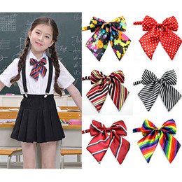Wholesale Ceremony Accessories - Multicolor Kids adjustable bow tie school uniform accessory props boys girls opening ceremony school opening day performance bowknot ties