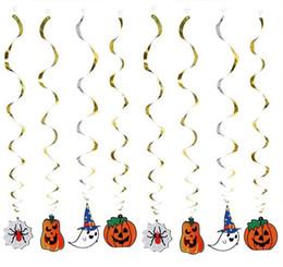 Wholesale Pumpkin Ornaments - Halloween Hanging Style Curved Line Pumpkin Floral Halloween Ornament Halloween Arrangement Curtain Strap G770