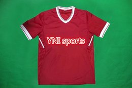 Wholesale Named Clothes - New Arrival !2017 2018 pools soccer jerseys home red custom name number top thai quality uniforms football shirts live clothing Free Epack!.