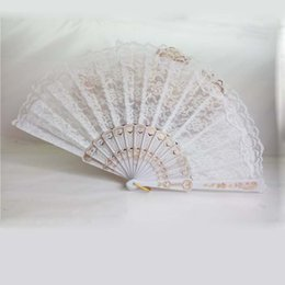Wholesale White Lace Hand Fans - 50Pcs White Lace Wedding Fan Favor,Ladies Hand Fan,Lace With Plastic Handle,Chinese Spanish Dance Fan,Wedding Party Favor Adult