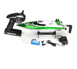 Wholesale Water Control Boats - F15716 7 FT009 2.4G 4CH High Speed Racing Flipped RC Boat Electric Remote Control Speedboat Water Cooling Motor System 35KMH