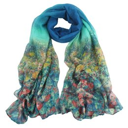 Wholesale Scarves Pastoral - Wholesale- Durable Scarf Women Winter 2015 Fashion Pastoral Style Soft Scarf Women Wrap Pretty Elegant Women Accessories Scarves Wholesale