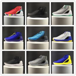 Wholesale One Size - 2017 New Arrival Curry 3 official Version Basketball Shoes for High quality One Stephen III Sports Sneakers Size 40-46