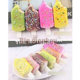 Wholesale Wholesale Ice Cream Packaging - 20pcs lots 11.5cm The Candy color of ice cream squishy in good packaging