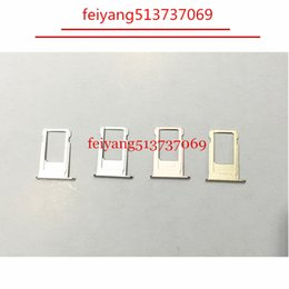 Wholesale Sim Card Slot Tray - A quality New Nano Sim Card Tray Slot Holder Replacement Parts For iPhone 6 6S 6 plus 6s plus Gold Gray Siver Rose