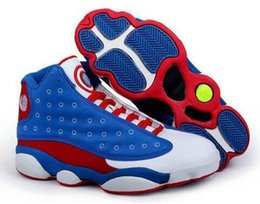 Wholesale Arrival Cheap - New Arrival High Quality Cheap Mens Basketball Shoes Retro 13 XIII Athletics Retro XIII 13 Shoes Captain America
