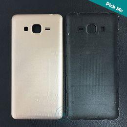 Canada Top Qualité Pour Samsung Galaxy Grand J2 Prime SM-G532 G532 G532F Couverture de Batterie Arrière Arrière Logement Logement Avec Logo Noir Blanc Or Couleur Offre