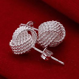 Wholesale fine flowers - E13 Hot sale XMAS Wholesale fine 925 sterling silver round 1pc fashion jewelry,new piercing 925 silver wedding dangle earring for women