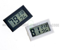 Wholesale Mini Digital Lcd Thermometer White - 2017 new black   white FY-11 Mini Digital LCD Environment Thermometer Hygrometer Humidity Temperature Meter In room refrigerator icebox MYY