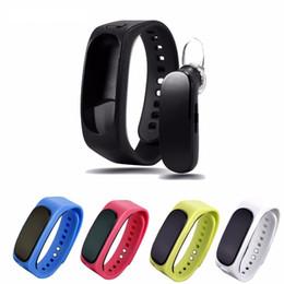Wholesale Earphone Bracelet - Original B1 Smart Bracelet Wristband Detachable Bluetooth Earphone Band smartband waterproof Sleep Monitor for IOS Android phone