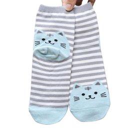 Wholesale Marketing Orange - Wholesale-Hot Marketing 3D Animals Striped Cartoon Socks Women Cat Footprints Cotton Socks Floor S15