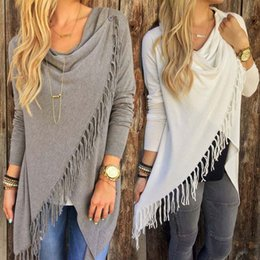 Wholesale Wholesale Winter Clothing For Women - New Autumn Casual Dresses For Women Long Sleeve Slim Tassel Slash Winter Knitted Clothing Mavodovama Midi Dresses Fashion