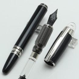 360 bateria on-line-Alta Qualidade-Luxo MT 14k 4810 Caneta tinteiro transparente tampa Classique resina preta com numeração de série
