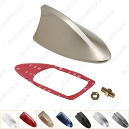 Wholesale Decorative Roof - FEELDO Waterproof Universal Car Radio Antenna Shark Fin Roof Decorative Antenna With FM AM Radio Function 7-Color #2743