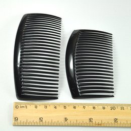 Wholesale Type Hair Clips - Fashion Black Plastic Tuck Comb Hair Pin Clip Charms Jewelry for Ladies Wholesale Hair Brushes