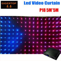 Wholesale video decoration - P18 P19 P20 To Choose 5M*5M Led Graphic Curtain Fire-proof with 50 Kinds of Programs P18 Led video curtain,Stage Lighting Decoration Screen