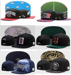 Wholesale girls hat floral - Top Quality Cheap New Cayler Sons Embroidery Letter Baseball Cap Adult Boys And Girls Bone Snapback Hip Hop Fashion Flat Hat Casquette gorra
